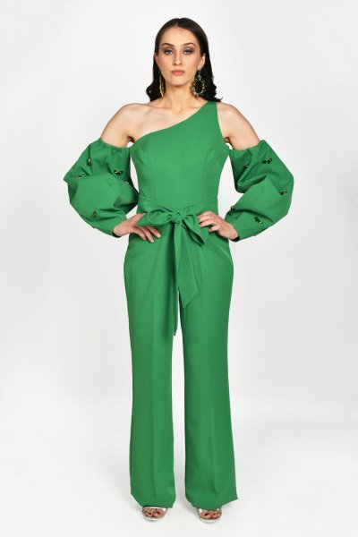 MOSS GREEN JUMPSUIT