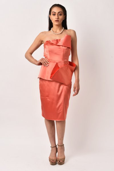 PEACH ROSEATE DRESS