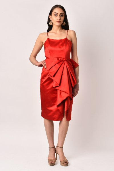SCARLET BOW DRESS