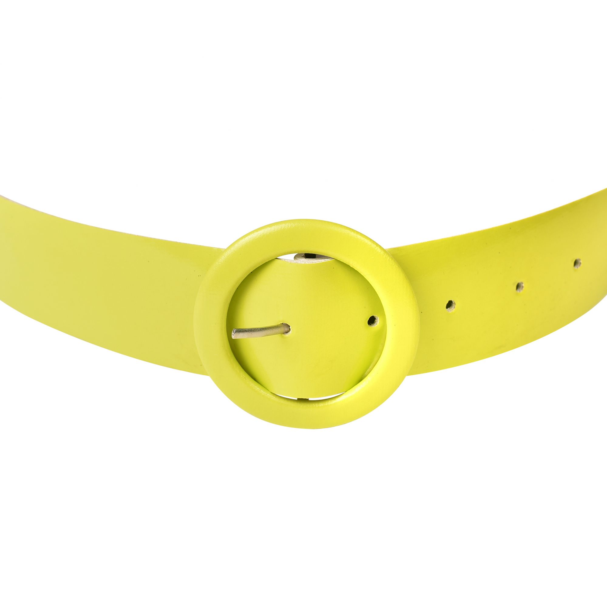 LIME GREEN LEATHER BELT