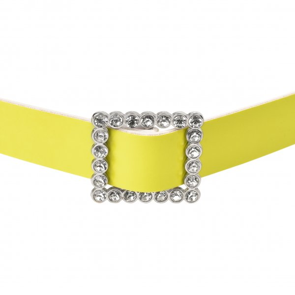 LIME GREEN STUDDED BELT