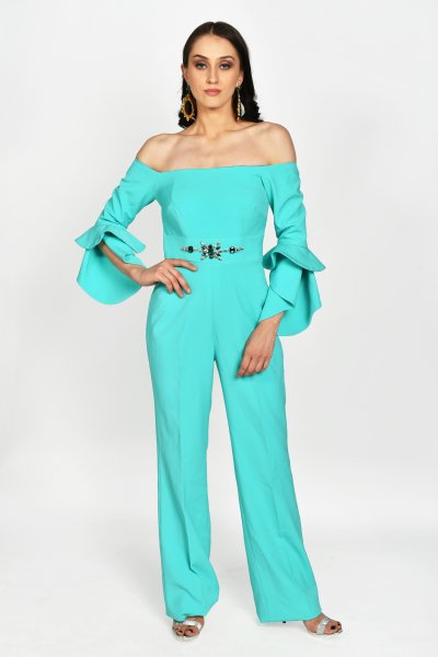 SEA GREEN JUMPSUIT