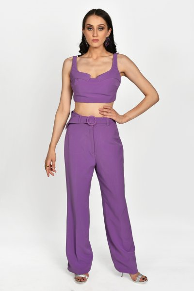 ORCHID CROP TOP AND PANTS CO-ORD