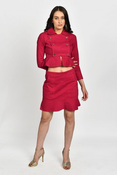 RASPBERRY DENIM CO-ORD